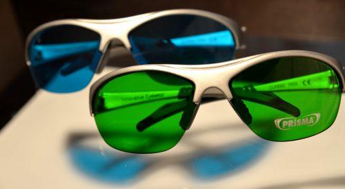 Farbtherapiebrillen gelbgruen tuerkis