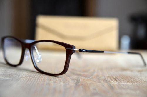 Holzbrille mit Blueblocker