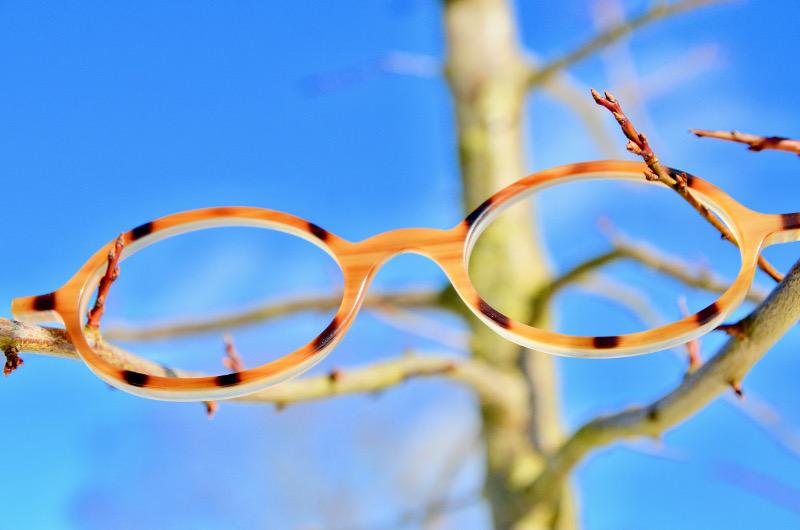 Superleichte Brille Horn Frontteil