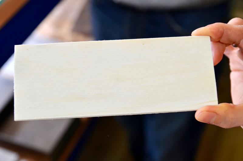 Weiße Hornplatte