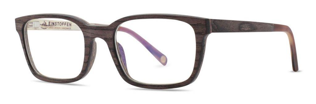Holzbrille Einstoffen Ebenholz