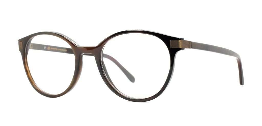 Hornbrille Einstoffen First Lady in braun